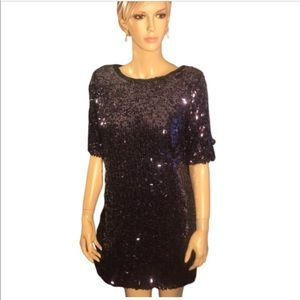 Rachel Roy size 8 purple sequined dress.